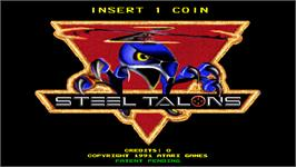 Title screen of Steel Talons on the Arcade.