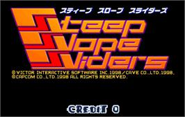 Title screen of Steep Slope Sliders on the Arcade.
