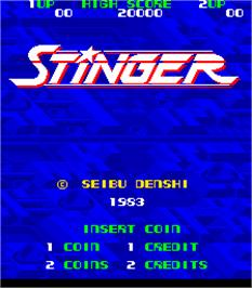 Title screen of Stinger on the Arcade.