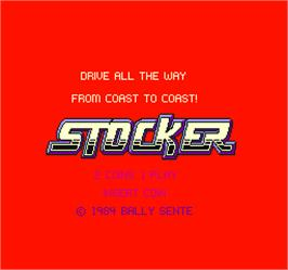 Title screen of Stocker on the Arcade.