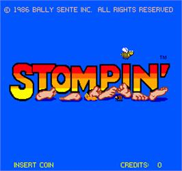 Title screen of Stompin' on the Arcade.