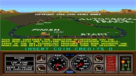 Title screen of Street Drivin' on the Arcade.