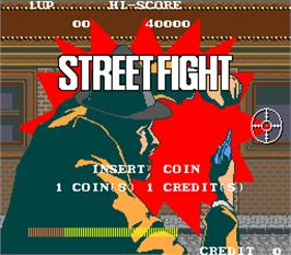 Title screen of Street Fight on the Arcade.