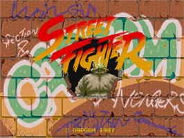Title screen of Street Fighter on the Arcade.