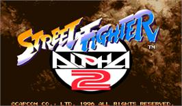 Title screen of Street Fighter Alpha 2 on the Arcade.