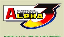 Title screen of Street Fighter Alpha 3 on the Arcade.
