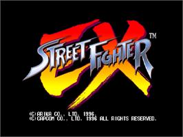 Title screen of Street Fighter EX on the Arcade.