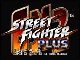 Title screen of Street Fighter EX 2 Plus on the Arcade.