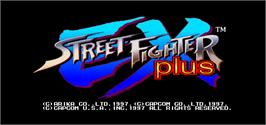 Title screen of Street Fighter EX Plus on the Arcade.
