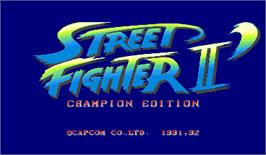 Title screen of Street Fighter II': Champion Edition on the Arcade.