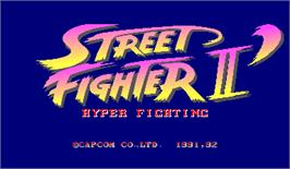 Title screen of Street Fighter II': Hyper Fighting on the Arcade.