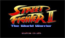 Title screen of Street Fighter II: The World Warrior on the Arcade.