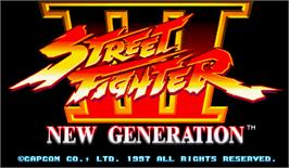 Title screen of Street Fighter III: New Generation on the Arcade.