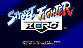 Title screen of Street Fighter Zero on the Arcade.