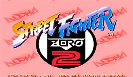 Title screen of Street Fighter Zero 2 Alpha on the Arcade.