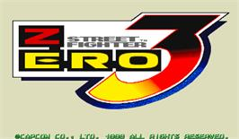 Title screen of Street Fighter Zero 3 on the Arcade.