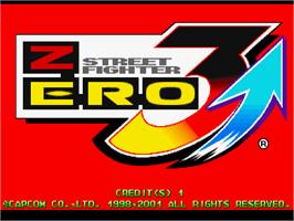 Title screen of Street Fighter Zero 3 Upper on the Arcade.