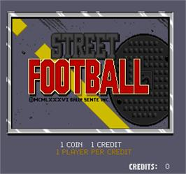 Title screen of Street Football on the Arcade.