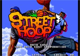 Title screen of Street Hoop / Street Slam / Dunk Dream on the Arcade.