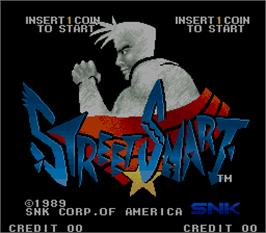 Title screen of Street Smart on the Arcade.