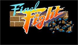 Title screen of Street Smart / Final Fight on the Arcade.