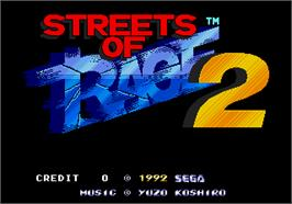 Title screen of Streets of Rage II on the Arcade.