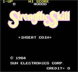 Title screen of Strength & Skill on the Arcade.