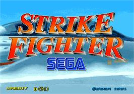 Title screen of Strike Fighter on the Arcade.