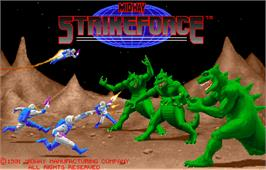 Title screen of Strike Force on the Arcade.