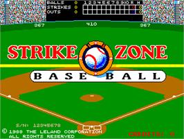 Title screen of Strike Zone Baseball on the Arcade.