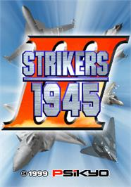Title screen of Strikers 1945 III on the Arcade.