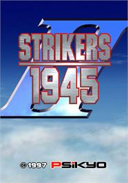 Title screen of Strikers 1945 II on the Arcade.