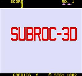 Title screen of Subroc-3D on the Arcade.