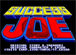 Title screen of Success Joe on the Arcade.