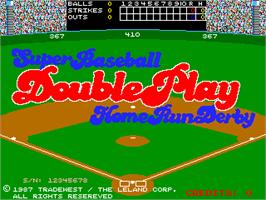 Title screen of Super Baseball Double Play Home Run Derby on the Arcade.