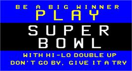 Title screen of Super Bowl on the Arcade.