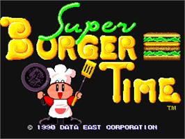 Title screen of Super Burger Time on the Arcade.