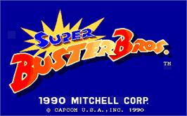 Title screen of Super Buster Bros. on the Arcade.