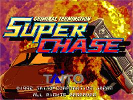 Title screen of Super Chase - Criminal Termination on the Arcade.