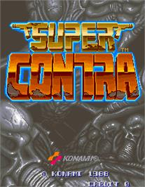 Title screen of Super Contra on the Arcade.
