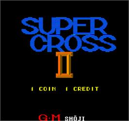 Title screen of Super Cross II on the Arcade.