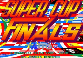 Title screen of Super Cup Finals on the Arcade.