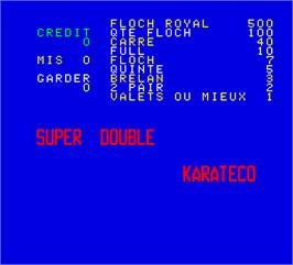 Title screen of Super Double on the Arcade.