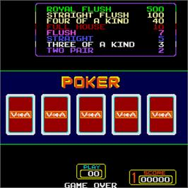 Title screen of Super Draw Poker on the Arcade.