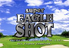 Title screen of Super Eagle Shot on the Arcade.