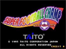 Title screen of Super Football Champ on the Arcade.