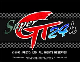Title screen of Super GT 24h on the Arcade.