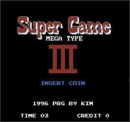 Title screen of Super Game III on the Arcade.
