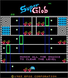 Title screen of Super Glob on the Arcade.