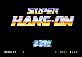 Title screen of Super Hang-On on the Arcade.